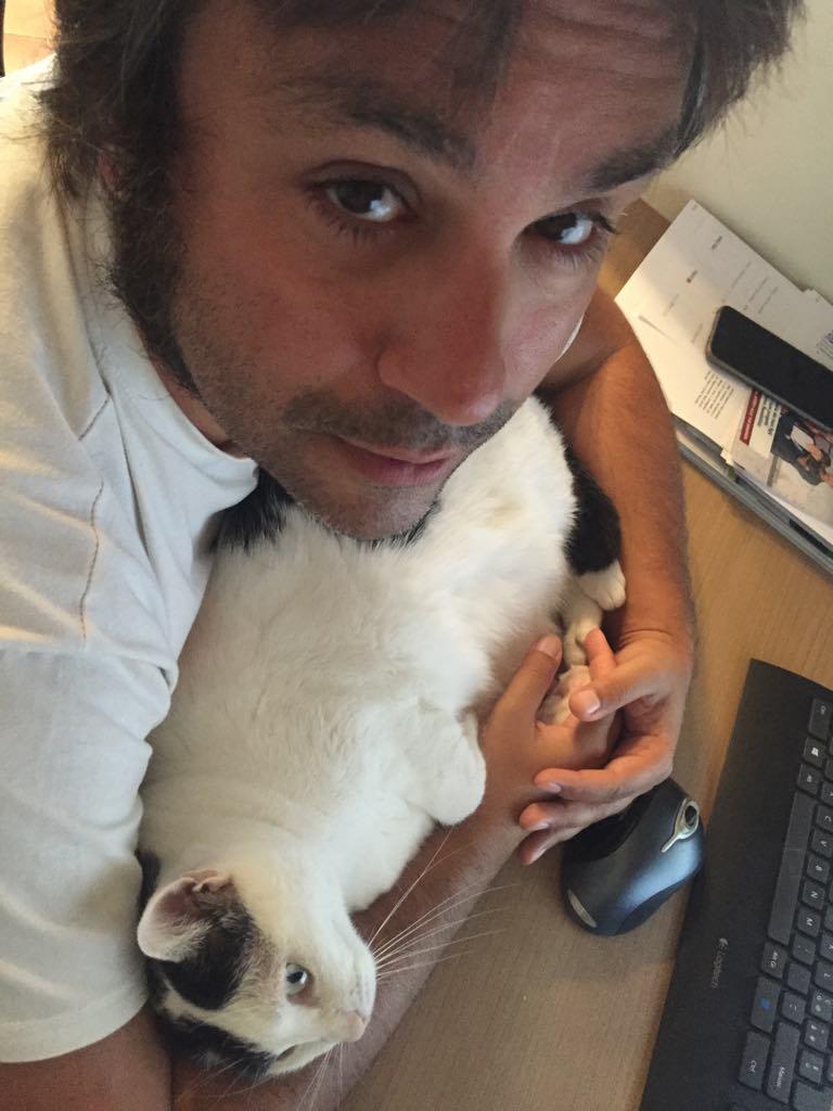 Stefano e Anita al computer