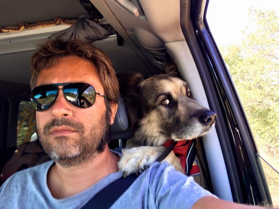Stefano e Gianbattista che guidano